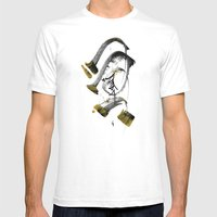 ذهب أسود Mens Fitted Tee White SMALL