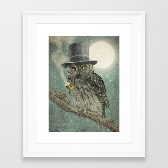 Night Smoke (Color Option) Framed Art Print