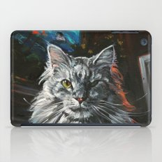Two Faces of the Main Coon Cat iPad Case