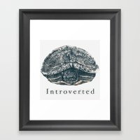 Introverted Framed Art Print