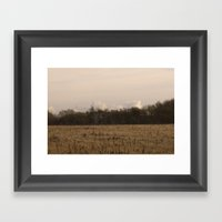 Old Fields Framed Art Print