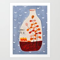 Anderssons Milk Art Print