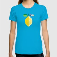 Fruit: Lemon Womens Fitted Tee Teal SMALL