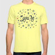 *you're Mens Fitted Tee Lemon SMALL