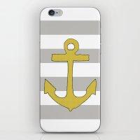 Golden Anchor iPhone & iPod Skin