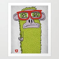 005_monkey Glasses Art Print