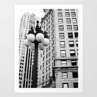 A Chicago Lamp Post Art Print