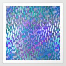 Endless Steps (purple-tu… Art Print
