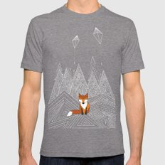 Foxy Night Mens Fitted Tee Tri-Grey SMALL