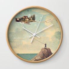 City Kite Afternoon Wall Clock