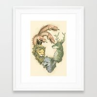 Fight For The Throne Framed Art Print