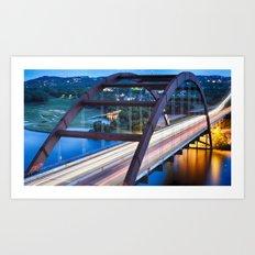 Pennybacker Bridge at Sunset Art Print