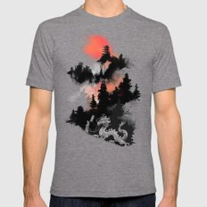 Samurai's life Mens Fitted Tee Tri-Grey SMALL