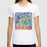 Sea Turtle Abstract Womens Fitted Tee Ash Grey SMALL