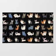 CATS On Black Rug