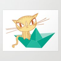 Pea Green Boat Art Print
