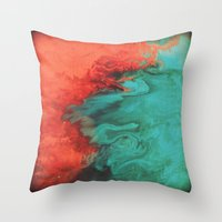 Vintage Red And Blue Throw Pillow