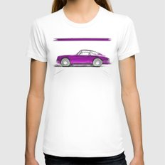 Porsche 911 / III Womens Fitted Tee White SMALL
