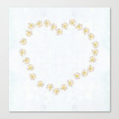 Daisy chains and daisy hearts Canvas Print