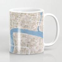 New Orleans Cobblestone Watercolor Map Mug