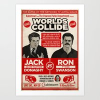 Jack Donaghy Vs. Ron Swa… Art Print