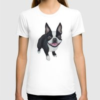 boston T-shirts featuring Boston Terrier by PaperTigress