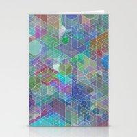 Panelscape + circles - #2 society6 custom generation Stationery Cards