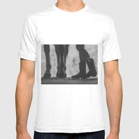 Boots Hooves + Bows Mens Fitted Tee White SMALL