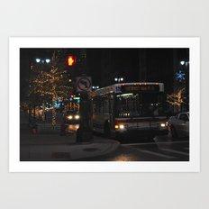 Detroit Bus Art Print