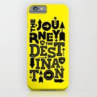Yellow Journey Quote iPhone 6 Slim Case