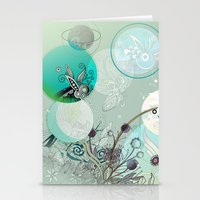 Floral Collage Stationery Cards