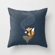 Fox Tea Throw Pillow