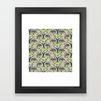 Rhino Jungle Framed Art Print