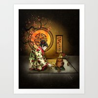 Camellia Tea Art Print