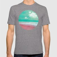 SILENT BEACH Mens Fitted Tee Tri-Grey SMALL