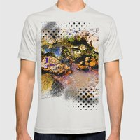 I Heart Rocks Mens Fitted Tee Silver SMALL