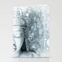 Fade to White Budda Stationery Cards