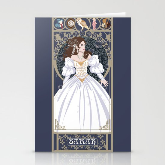 Sarah Nouveau - Labyrinth Stationery Card