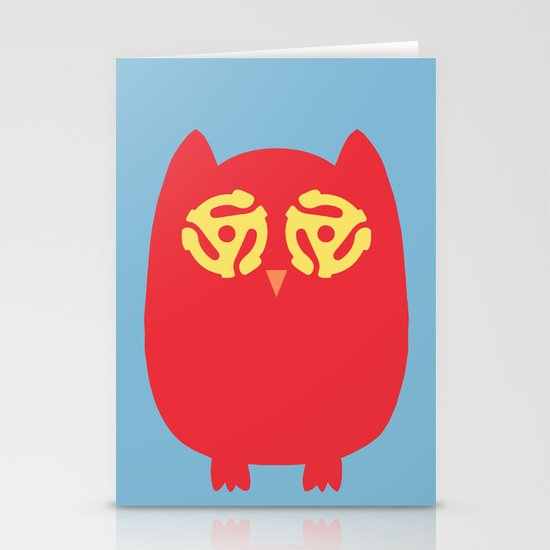 Owl 45s Stationery Card
