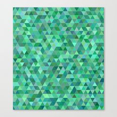 Pastel green triangles Canvas Print