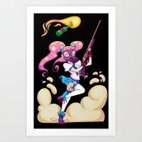 Riot Magical Girl Art Print