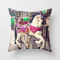 Floating Horse Throw Pillow
