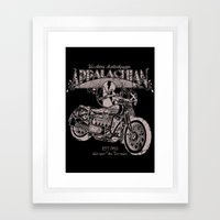 White Lightning Framed Art Print