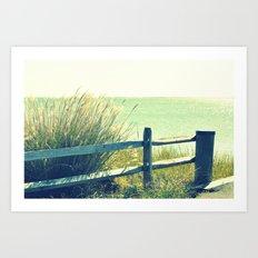 Beach Grass Art Print