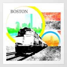 Locals Only - Boston Art Print