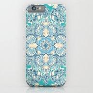 Gypsy Floral In Teal & B… iPhone 6 Slim Case