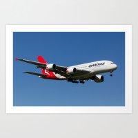 Qantas Airbus A380 Art Print