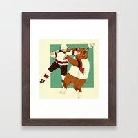 The Hockey Fight Framed Art Print