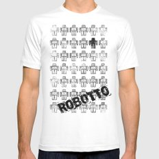 Robotto! SMALL White Mens Fitted Tee