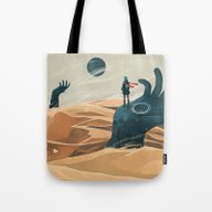 The Wanderer And The Des… Tote Bag